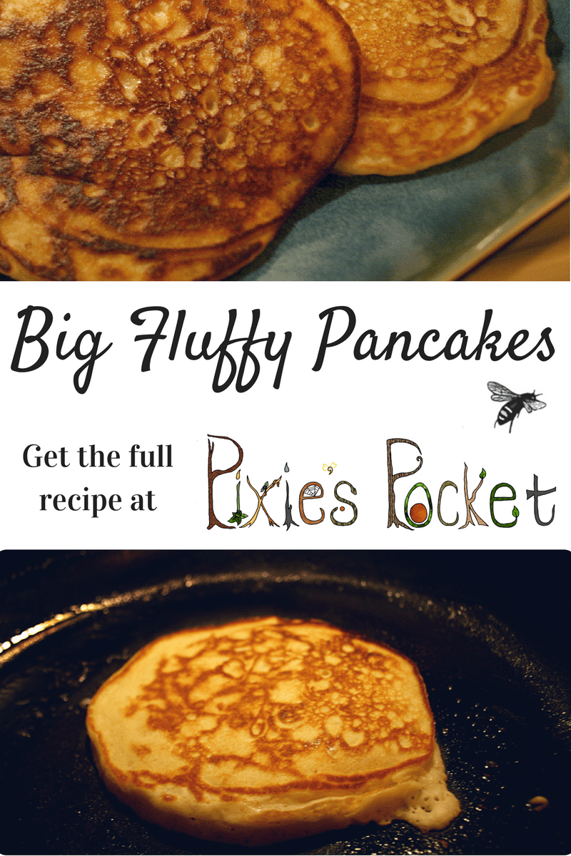 big fluffy pancake recipe from pixiespocket.com