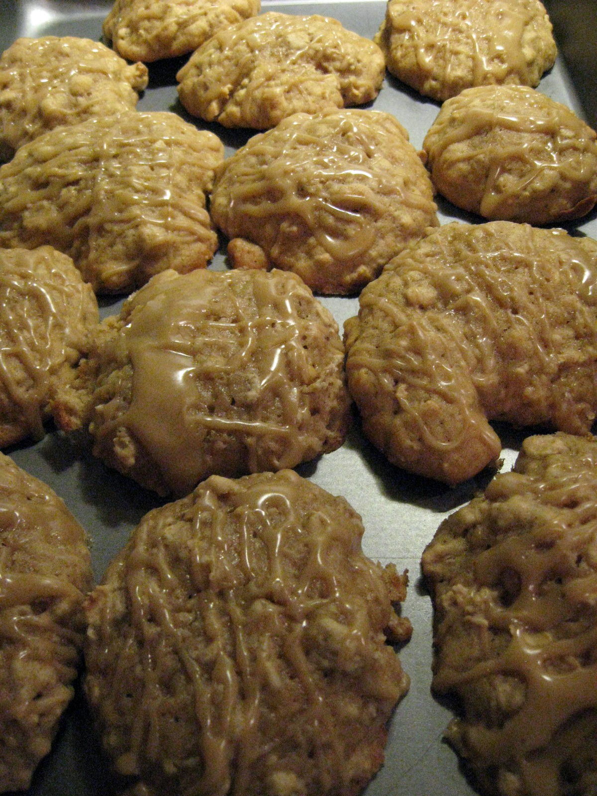 Recipe Box: Oatmeal Applesauce Cookies with Maple Drizzle ~ Pixie's ...