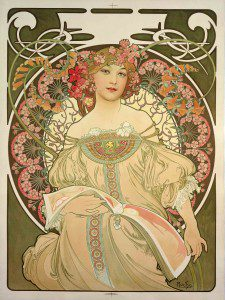 Champagne Printer Publisher by Mucha