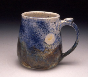 Moon O'er Mountains Mug from Mudlicious Pottery