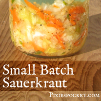 Small Batch Lacto Fermentation PixiesPocket.com