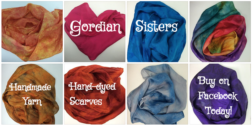 Gordian Sisters hand-dyed scarves and yarn