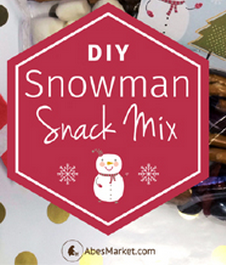 Vegan Snowman Snack Mix