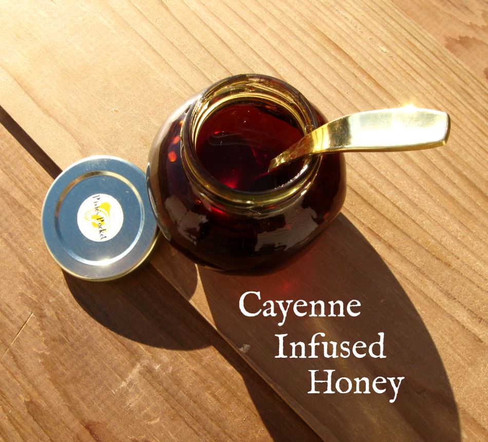 Cayenne Infused Honey by pixiespocket.com, as seen on keeping backyard bees