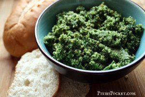 Wild Greens Pesto Recipe on pixiespocket.com