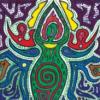 goddess card, calm in chaos