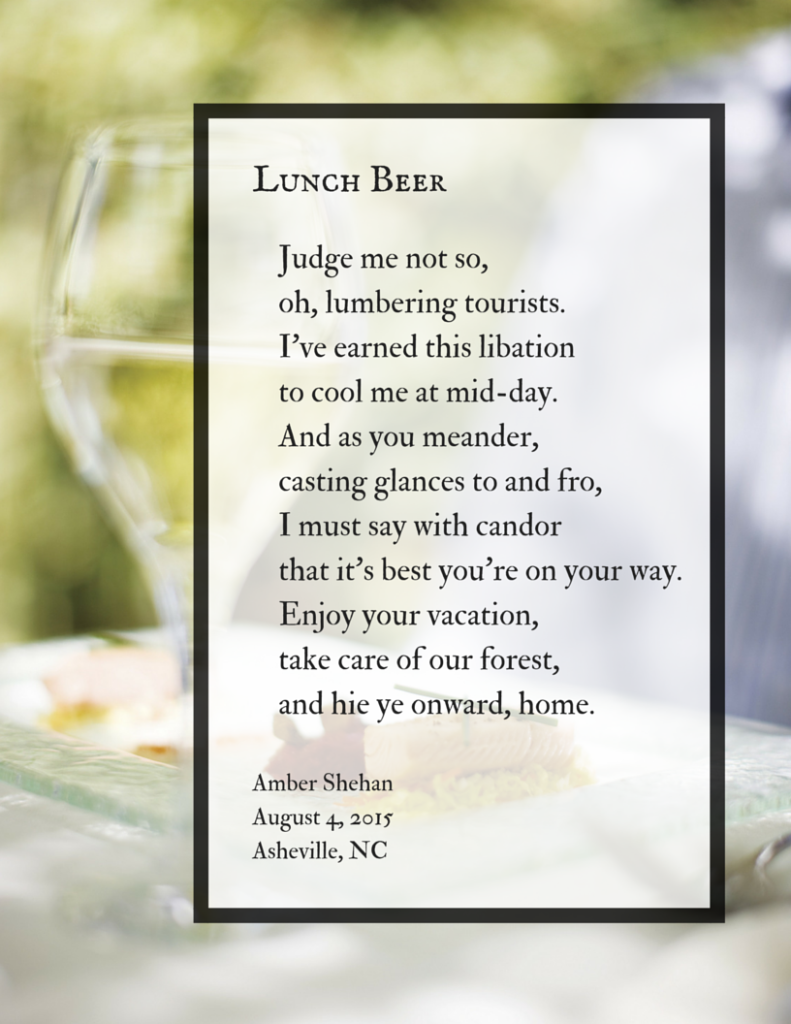 Lunch Beer - a poem by Amber Shehan