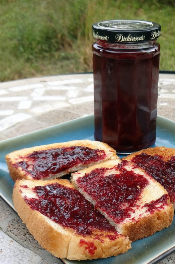 toast with Damson Plum & Muscadine Butter from pixiespocket.com