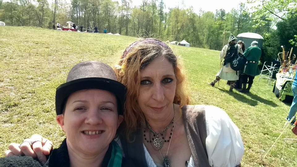 Me and Madam Tess at Festival of Legends