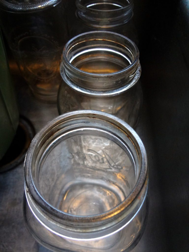 mason jars by pixiespocket.com - Putting down roots, dusting out the corners.