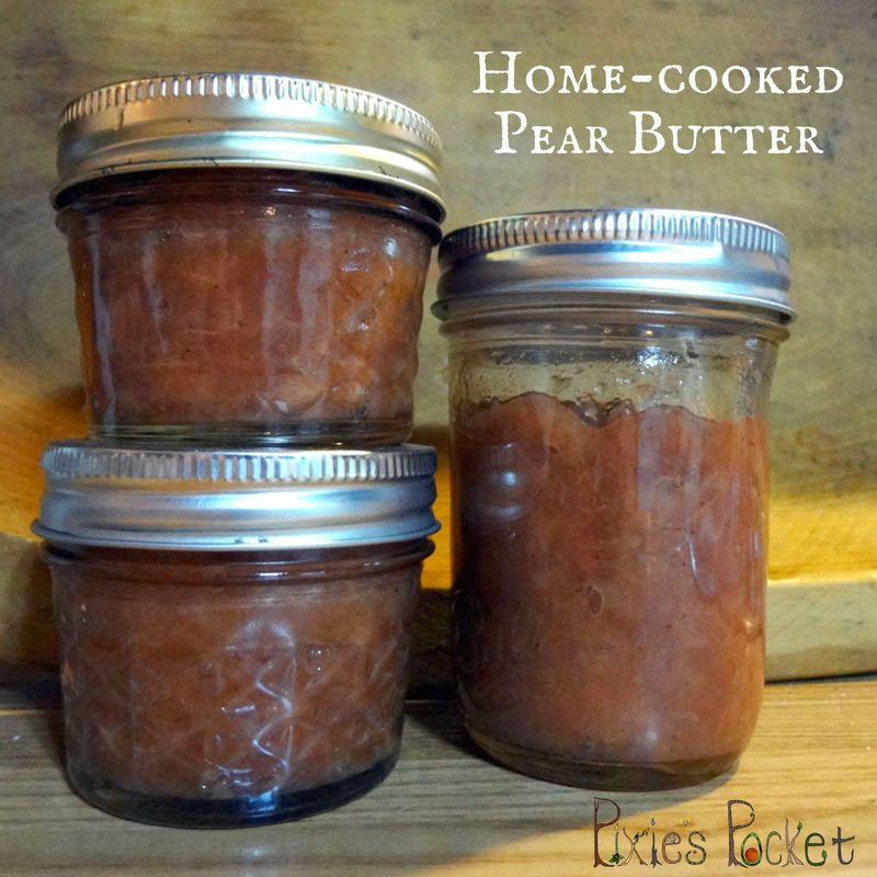 Pear Butter Recipe - a small batch from windfall fruit - pixiespocket.com