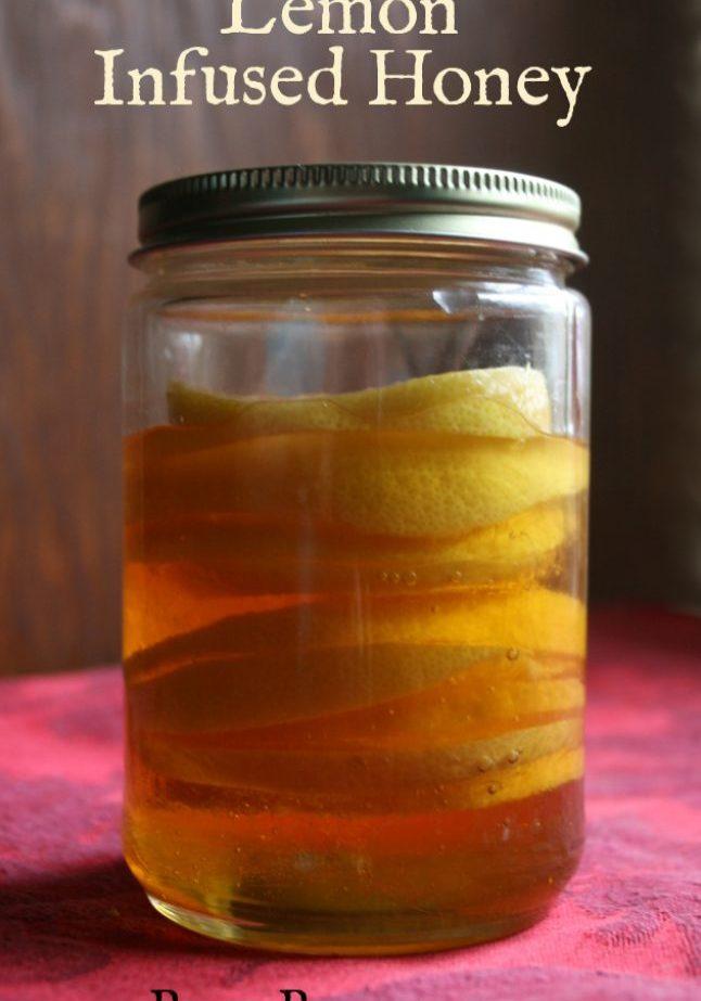 lemon infused honey recipe from pixiespocket.com