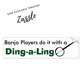 Banjo Players Bumper Sticker