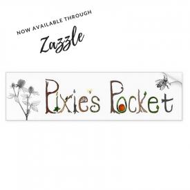Pixie's Pocket Logo Bumper Sticker