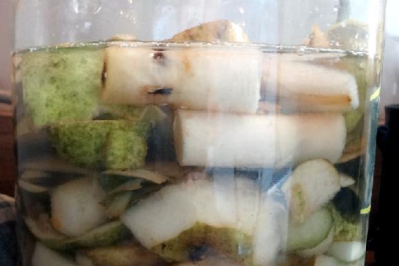 Pear Vinegar Recipe – made with fruit scraps