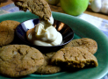 Bacon Fat Gingersnaps [and Honey Cream Cheese Dip]