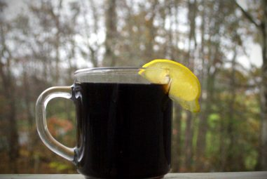 Herbal Hot Toddy [with Mint-Infused Bourbon]