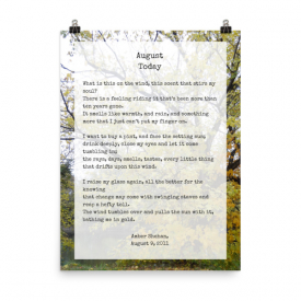 August Today – a poem by Amber Shehan