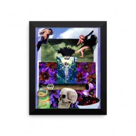Oya Collage – Framed Poster