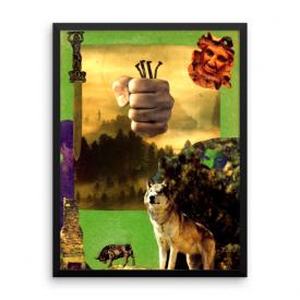Ogun Collage – Framed Poster
