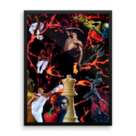 Chango Collage – Framed Poster